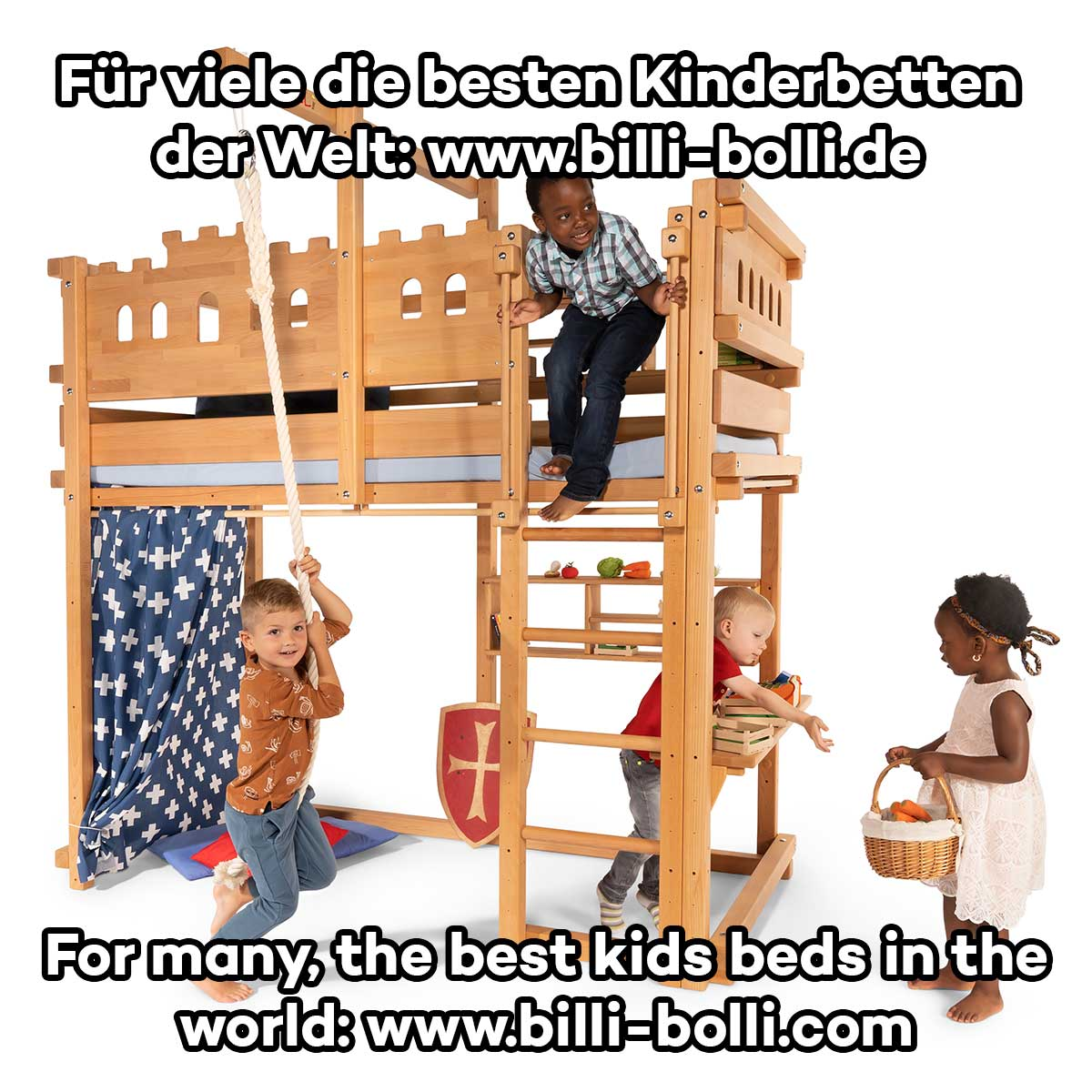 hochbett mitwachsend billi bolli kinderm bel. Black Bedroom Furniture Sets. Home Design Ideas