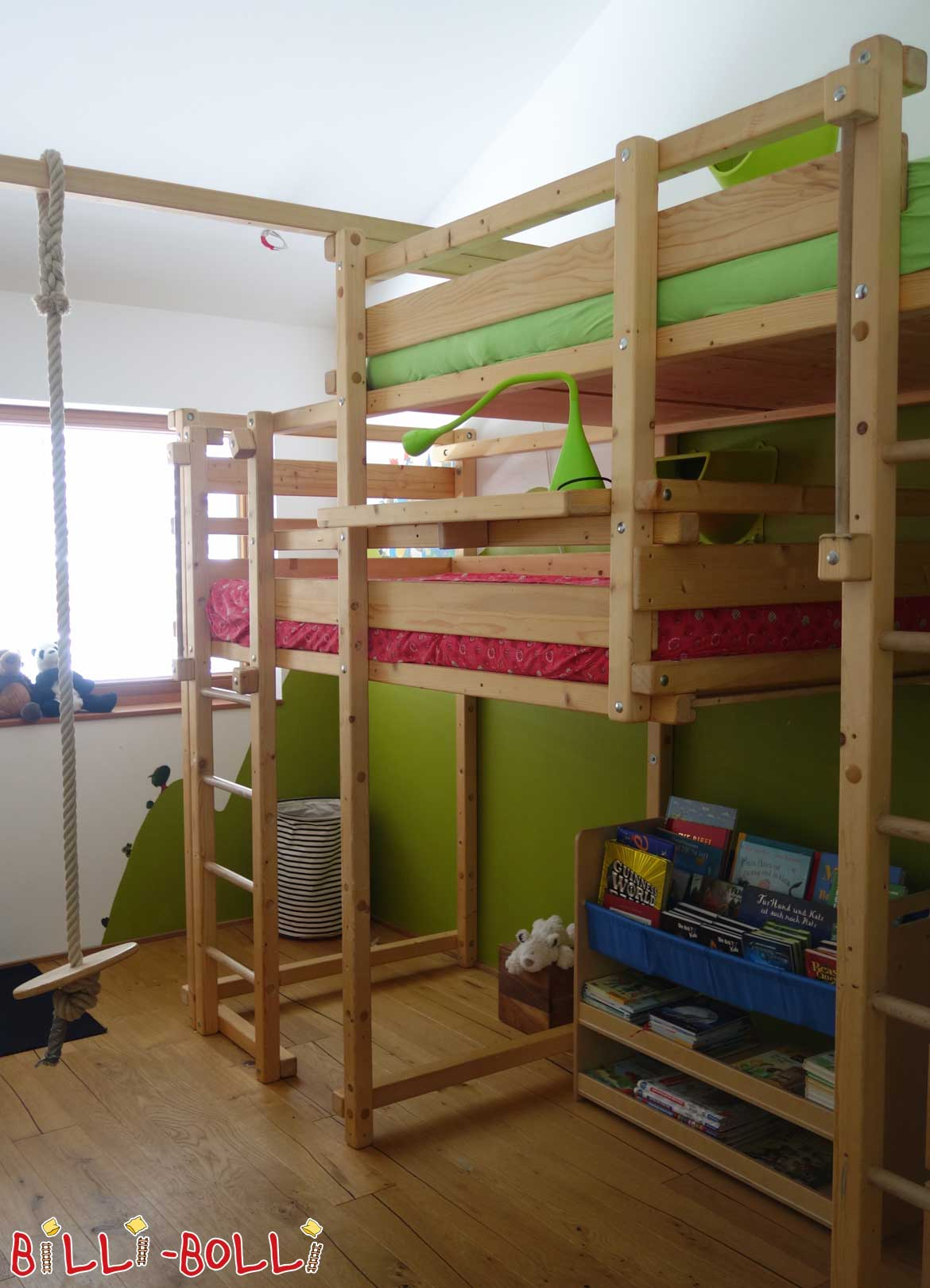 1 40m hochbett simple tobykids buche hochbett mit. Black Bedroom Furniture Sets. Home Design Ideas
