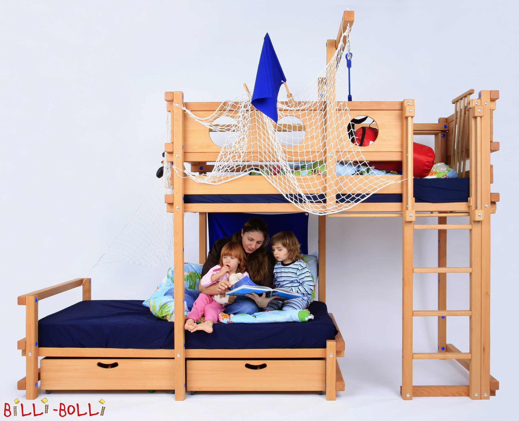 etagenbett seitlich versetzt billi bolli kinderm bel. Black Bedroom Furniture Sets. Home Design Ideas
