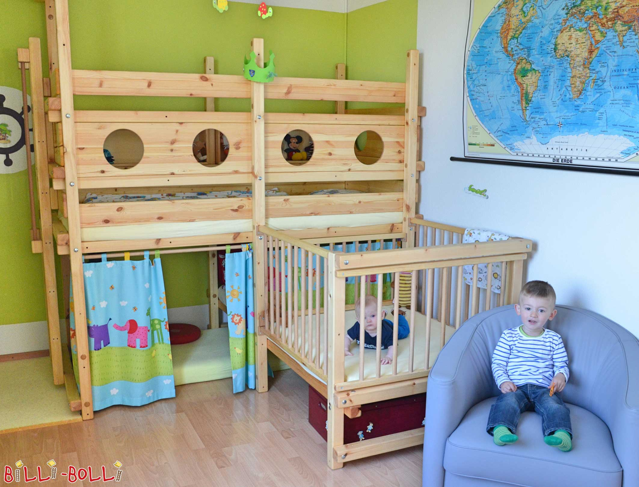 Etagenbett Baby : Etagenbett über eck billi bolli kindermöbel
