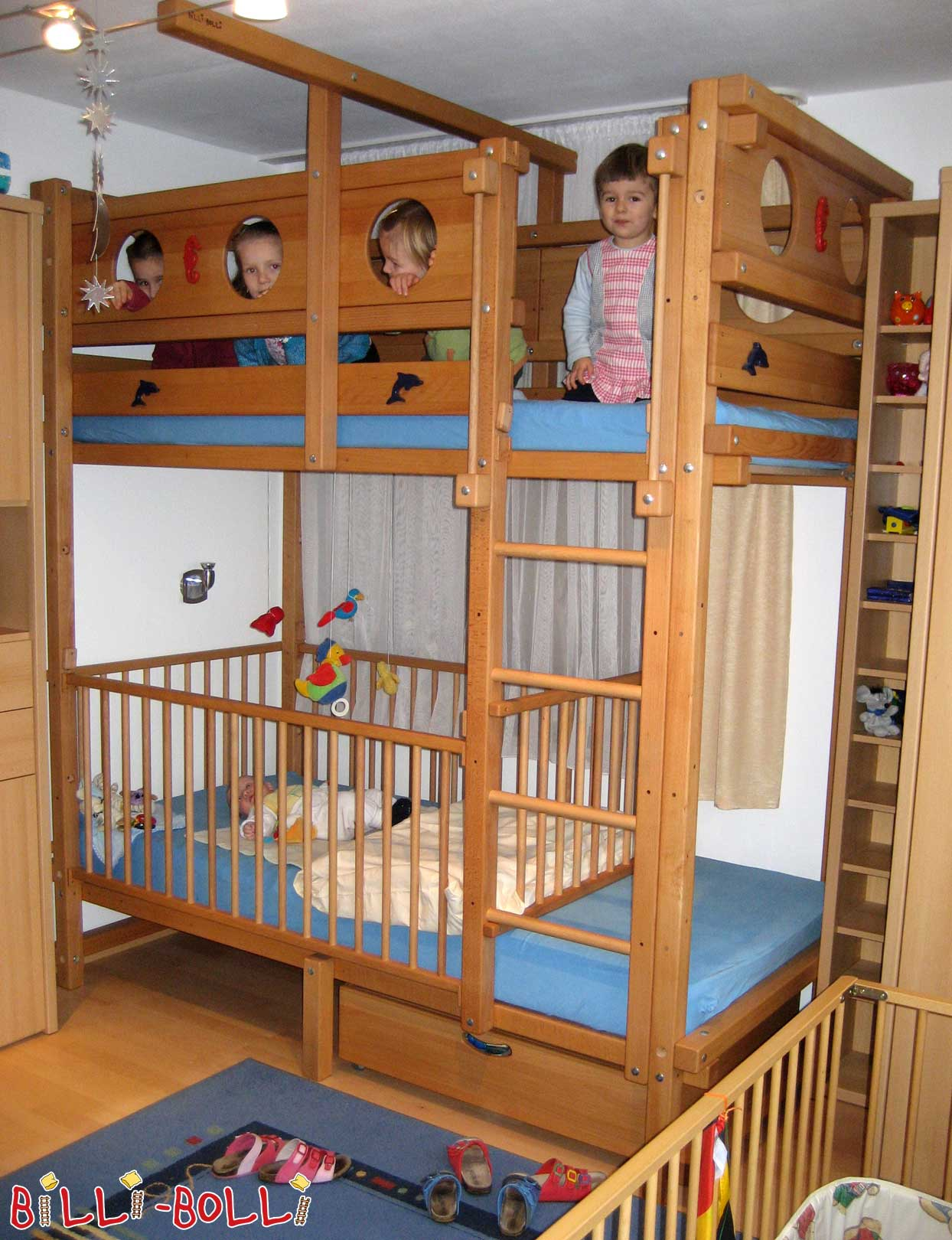 Bunk bed with desk etagenbett billi bolli kindermbel - Etagenbett interio ...