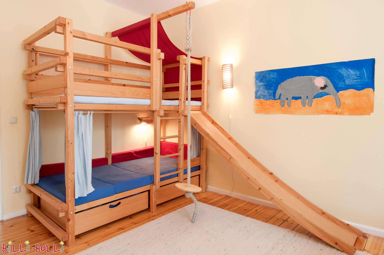 Etagenbett Lukas Gebraucht : Kinder etagenbett mit bettkastenk treppe und geländer heiabubu