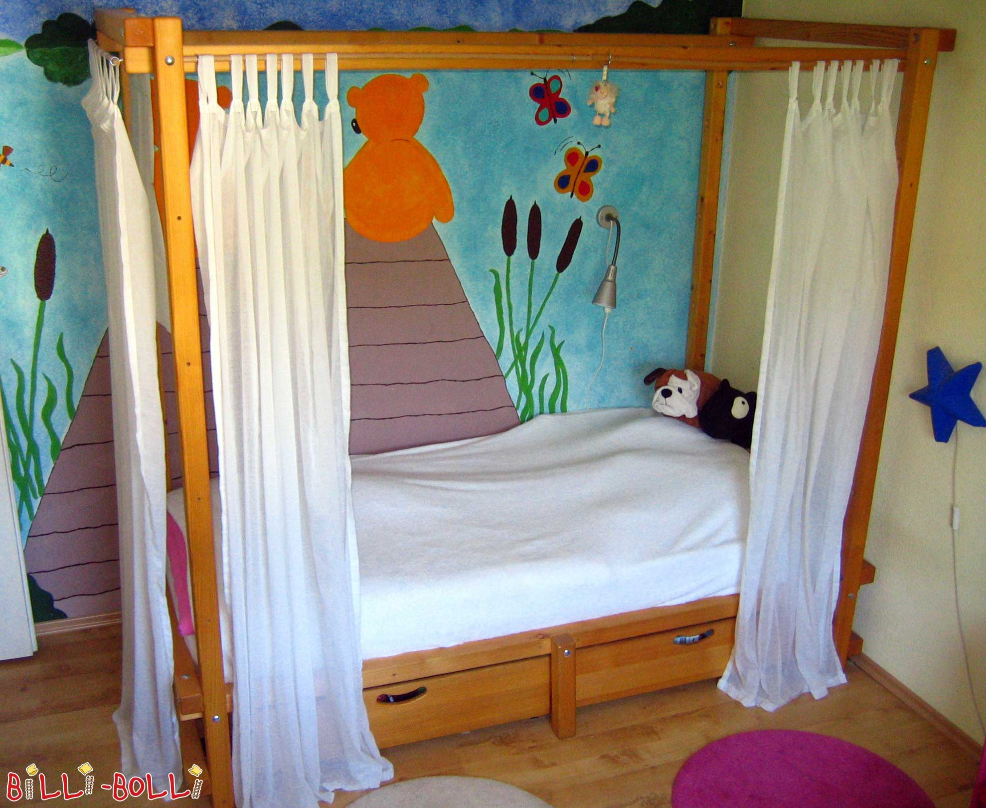 himmelbett vorhang kinderzimmer. Black Bedroom Furniture Sets. Home Design Ideas