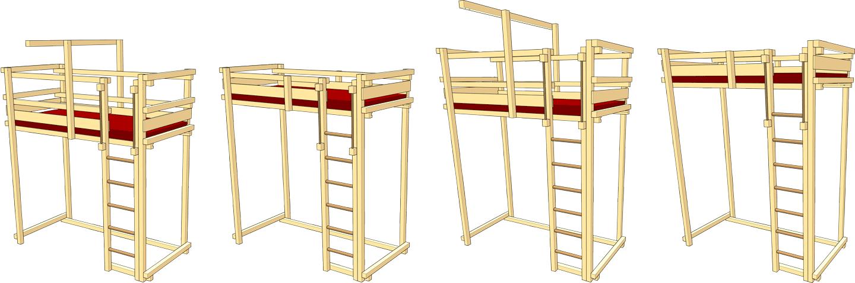 hochbett mitwachsend billi bolli kinderm bel. Black Bedroom Furniture Sets. Home Design Ideas